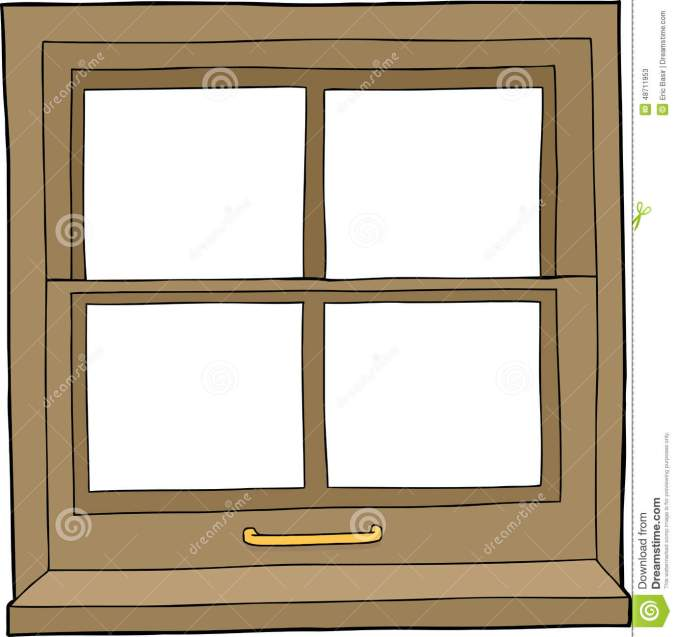 isolated-cartoon-window-hand-drawn-four-panes-48711953