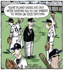 baseball spitting